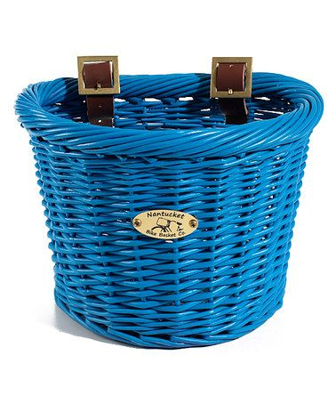 Take a look at this Royal Blue Buoy D-Shape Basket by The Nantucket Bike Basket Co. on #zulily today!