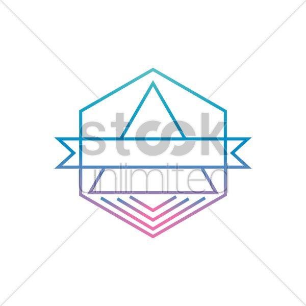 hexagon logo element Stock Vector