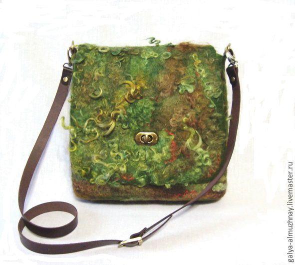 """Купить валяная сумка """" Таинственный лес"""" - валяная сумка, войлочная сумка, сумка женская"""
