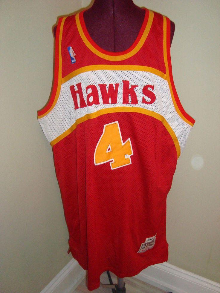 Vintage nba 1986 87 atlanta hawks webb 4 hardwood for Hawks t shirt jersey