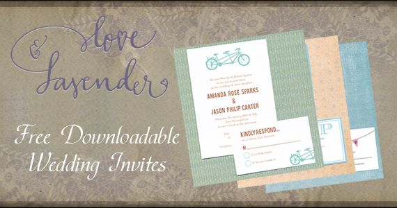 FREE Downloadable Wedding Invites