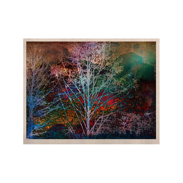 """Sylvia Cook """"Trees in the Night"""" KESS Naturals Canvas (Frame not Included)"""