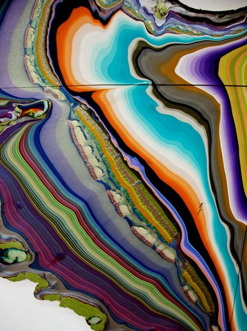 Holton Rower - Untitled Pour Paintings(2010-11)