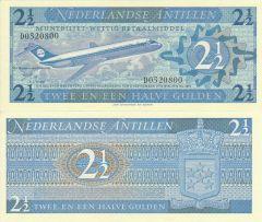 2 1/2 Gulden Netherlands Antilles's Banknote