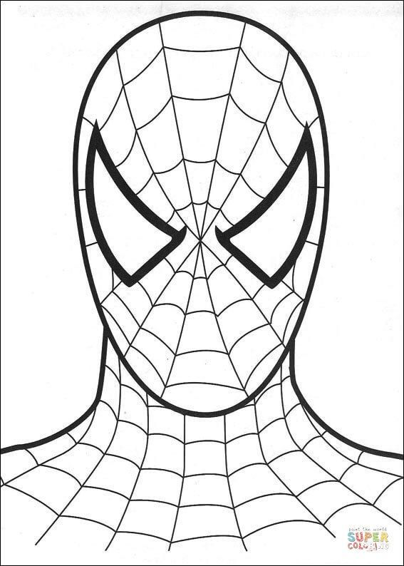 Spiderman S Head Coloring Page Categories Spiderman Free