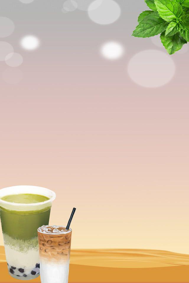 Pearl Milk Tea Poster Background Material In 2020