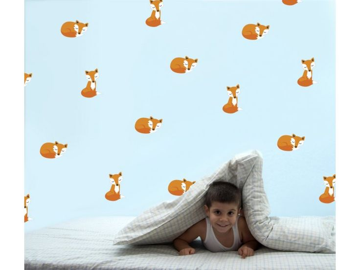 Speckled House-Kids Room Decor-Wall Decals {Sleepy Foxes}