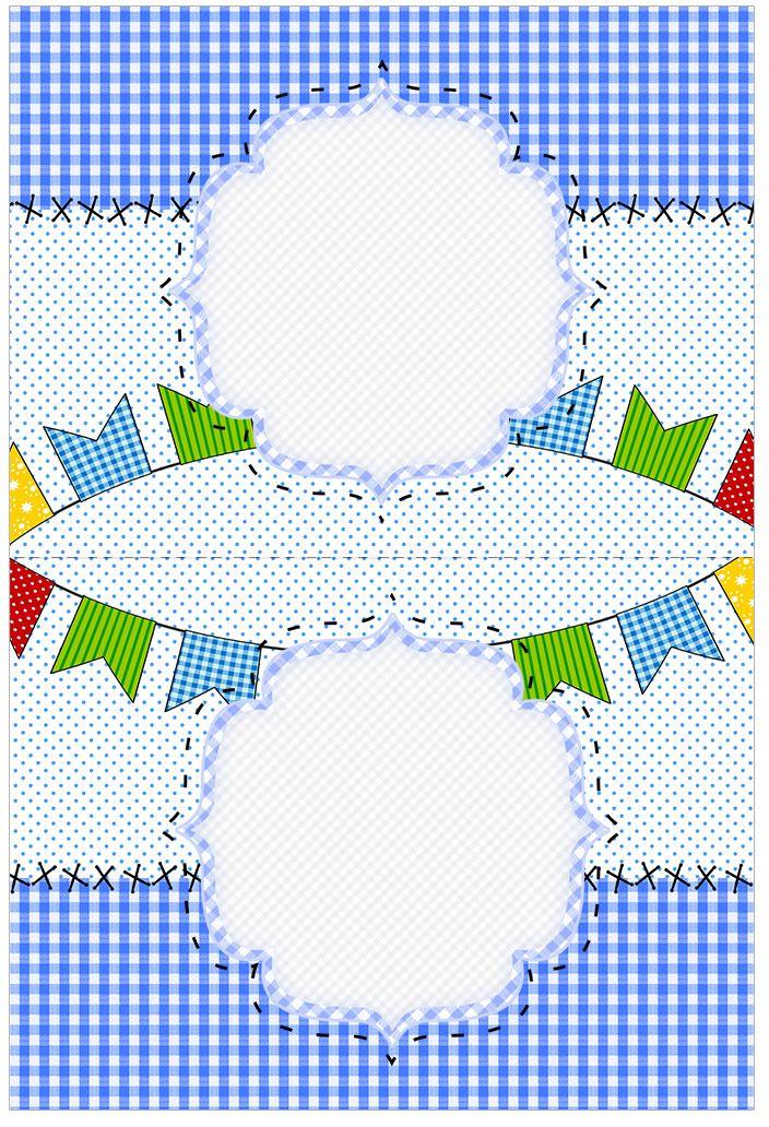 cartao agradecimento de mesa festa junina azul