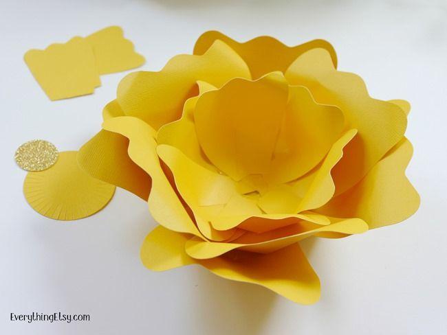 DIY Бумажные цветы-Довольно Декорации для вечеринок