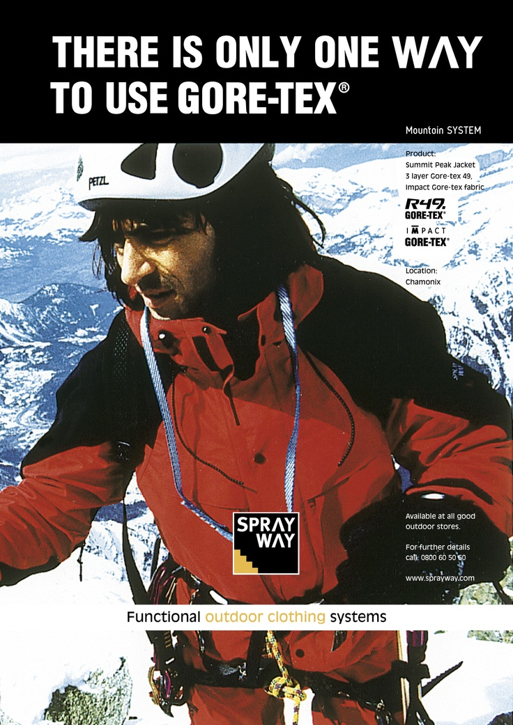 Old GORETEX ad from 1999