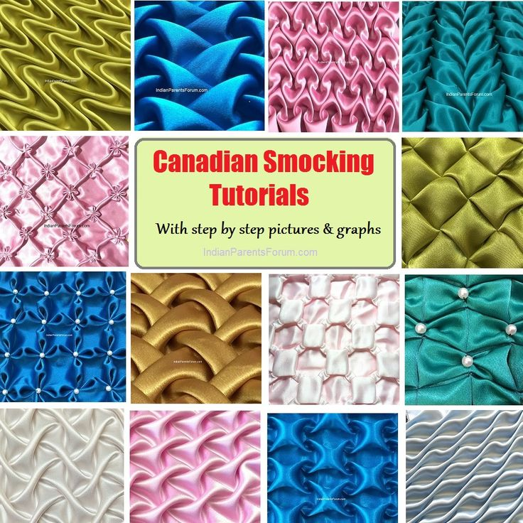 Canadian Smocking Tutorials With Step By Step Instructions Sewing