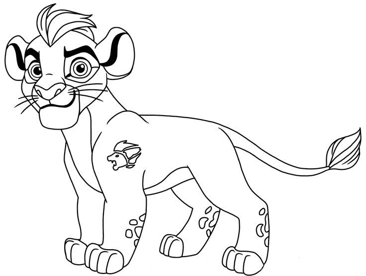 Guarda Do Leão Kion Para Colorir 2