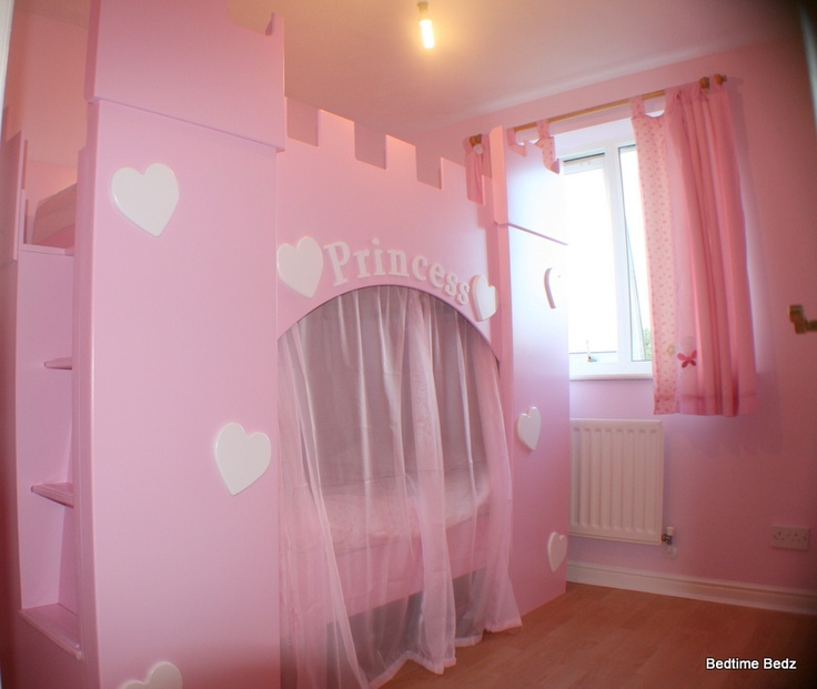 Princess Heart Castle Bed