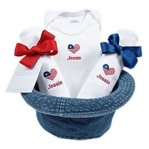 38 best 4th of july images on pinterest 4th of july photography a bucket full of baby stuff 4 piece gift set little patriot personalization available negle Choice Image