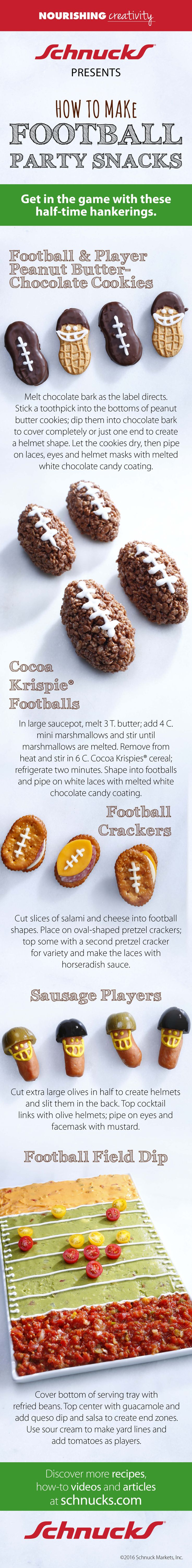 Ready for the big game? Try these tasty #football party snacks! #Schnucks