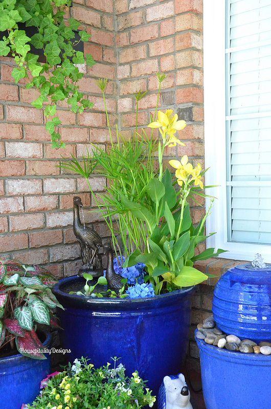 Container Ideas Small Garden Water