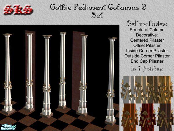 71robert13's Gothic Square Composite Columns-Pediment set 2