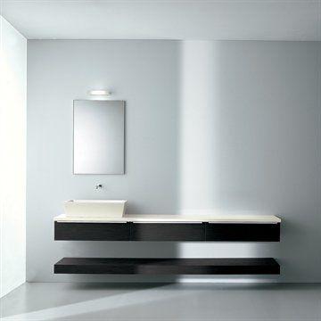 Badeværelsesmøbler Sistema Flat 4025 i mørk eg.