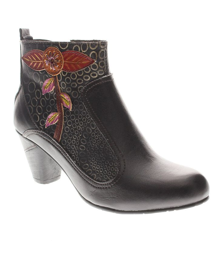 Look at this L'Artiste by Spring Step Black Parfum Leather Bootie on today!