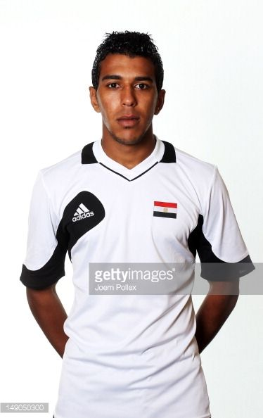 Ahmed Bekhit of the Egypt Men's Olympic Football Team at the Hilton Hotel on July 22 2012 in Cardiff Wales