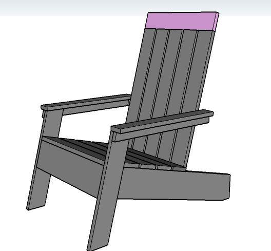 Modish adirondack chair 2x4 chair plans must do pinterest for Adirondack swing bench plans