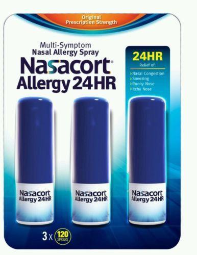 Nasacourt Allergy Nasal Spray (3 Pack) 24hr Non Drip (360 Sprays) Muti-Symptom