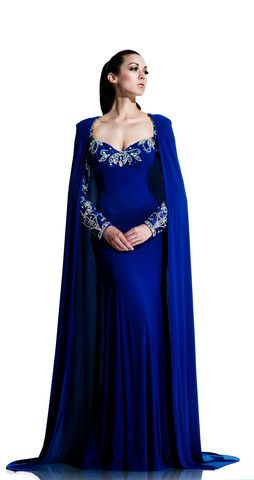 Jeweled Evening Gown with Cape Style 553 by Johnathan Kayne | Plus Size Clothing - Gorgeous Dresses | C'est Chelle Boutique