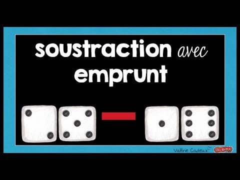 Soustraction avec emprunt - YouTube