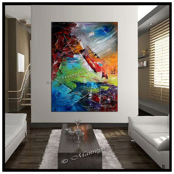 Living Room With Four Seasons Artwork