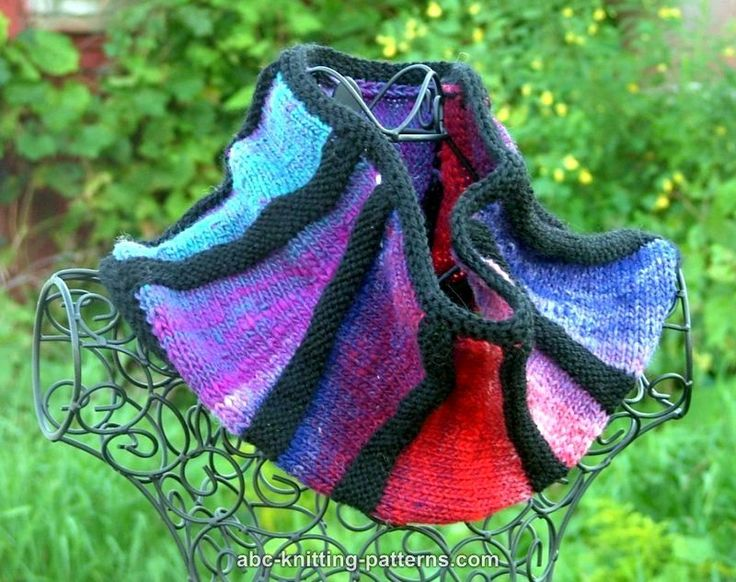 ABC Knitting Patterns - The Cubist Short Row Cowl