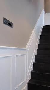 wallpaper dado rail stairs - Google Search