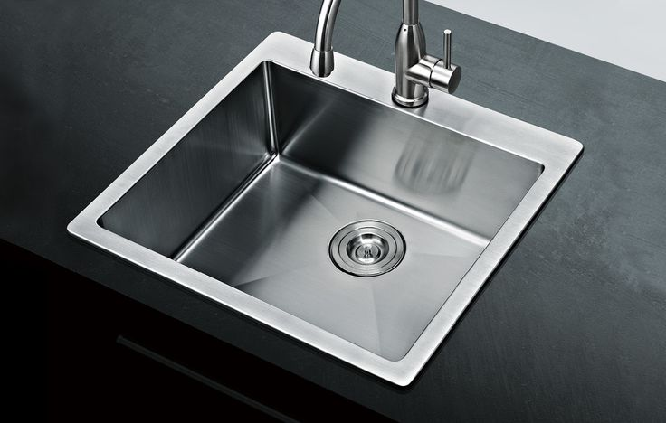 Monterey Single Countertop Sink 500x510x205mm Includes Colander & Prep Board Accessories from Bathrooms and Kitchens Builders Express Underwood, website www.bathroomsnkitchens.com.au