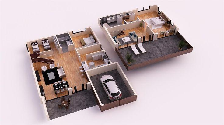 Mejores 45 im genes de casas de tejado plano donacasa en for Casas minimalistas 180m2