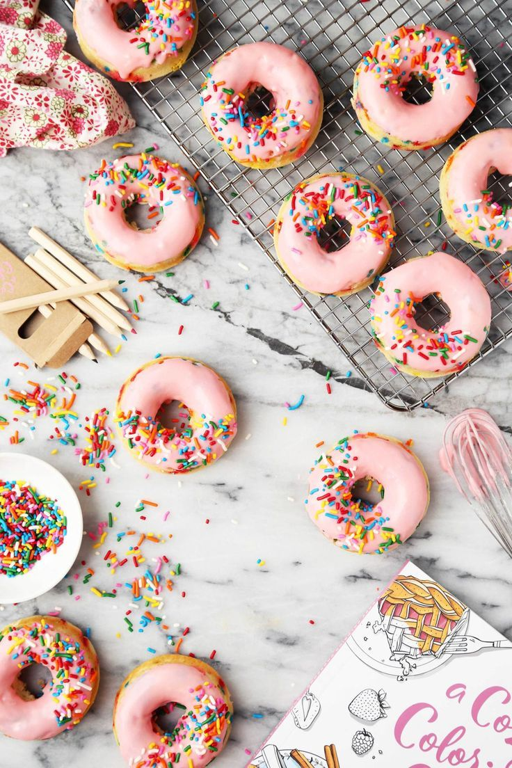 Baked Funfetti Doughnuts + Giveaway! | The Candid Appetite