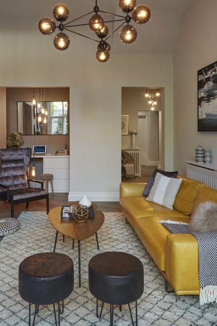Home Decor Discovery And Shopping Living Room Modern Modern Living Room Stylish Living Room #yellow #sofa #living #room
