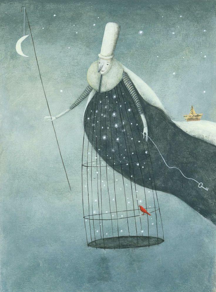 "Kinga Rofusz illustration for ""Lost Creatures Shop""."