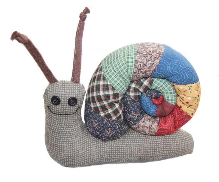Snails are such magical creatures! Carrying their wonderfully varied and often colorful houses on their backs, I can't help but smile when I see them. Like many people who sew, I have an ever growing supply of lovely fabric scraps that are just waiting to be turned into something new. Perhaps you do, too! And if you don't, this snail's shell can also be made from a quarter yard of one print instead. When complete, your snail will be approximately 8 1/2 inches long and 6 1/2 inches tall and…