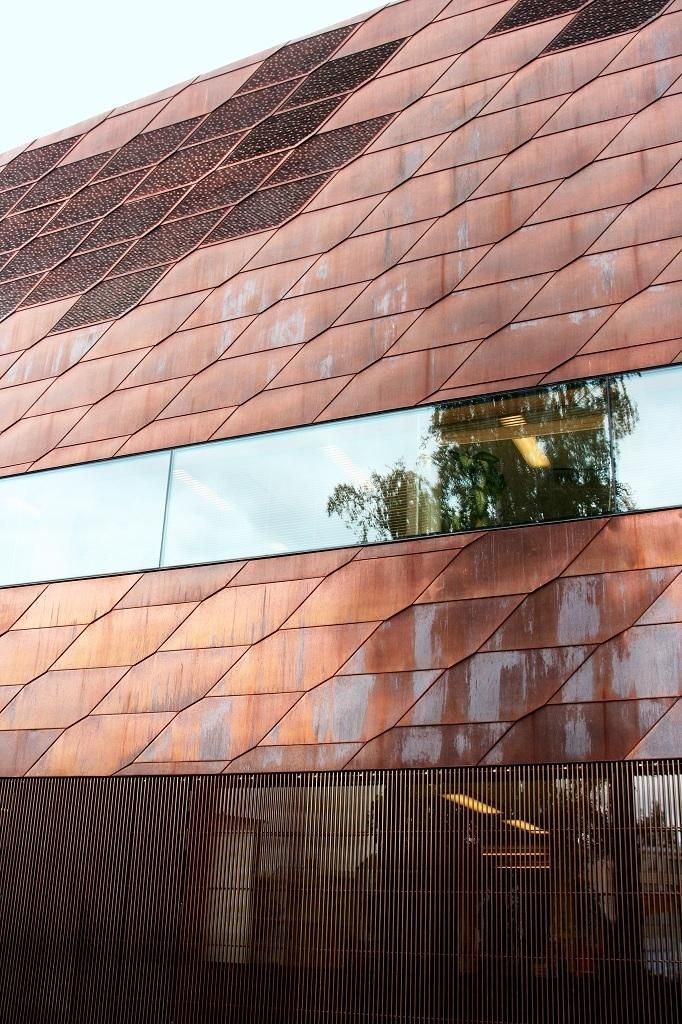 Copper facade - JKMM Architects  library . seinäjoki