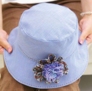 帽子、コサージュの作り方:手づくりレシピ:そーいんぐ.COM:フジックス