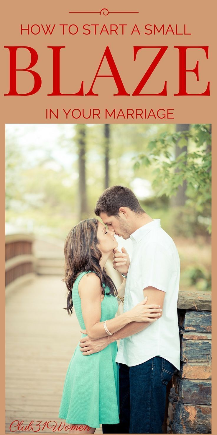 How do you keep your marriage warm and inviting? Keep the spark going? Here is one simple way a wife can start a small blaze in her marriage! ~ Club31Women
