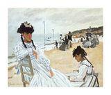 Claude Monet - La Plage a Deauville Speciální digitálně vytištěná reprodukce