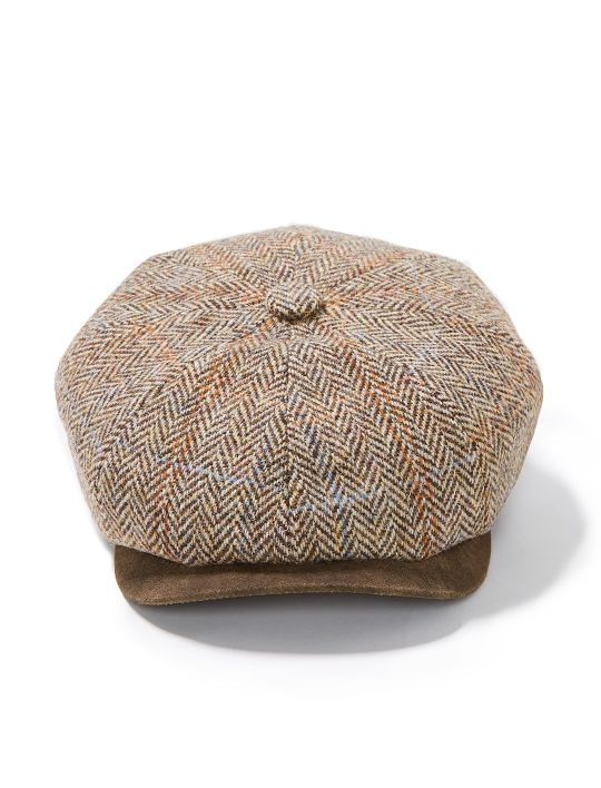 Stetson Harris Tweed Plaid Premium Newsboy Cap  afd59a47769d
