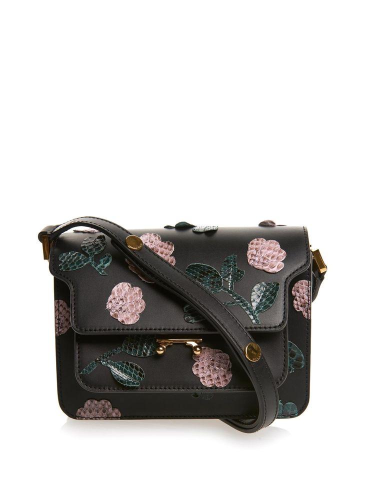Trunk mini leather and python cross-body bag | Marni | MATCHESFASHION.COM UK