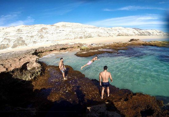 Greenly Beach- rock pools and free camp