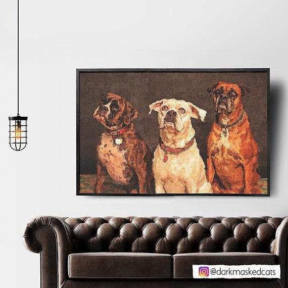 Pet Portrait, custom dog portrait, Van Gogh,custom portrait, Digital Art,painting from photo, dog portrait, best friend, family portrait