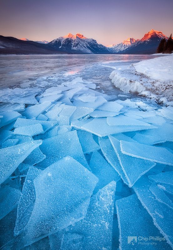Lake McDonald Ice taken at 29 degrees below zero - Glacier National Park by Chip Phillips.