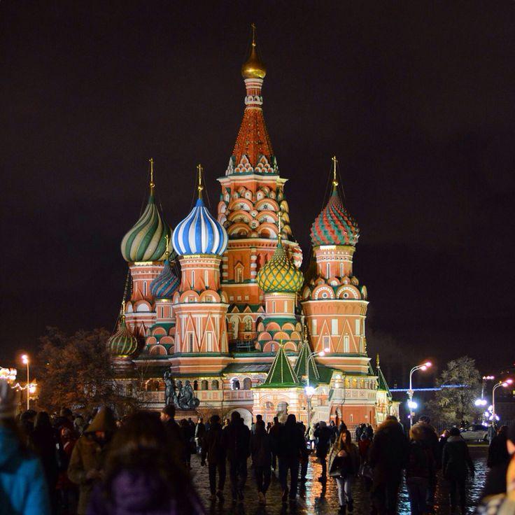 Москва, Красная площадь. Собор Василия Блаженного, декабрь 2015