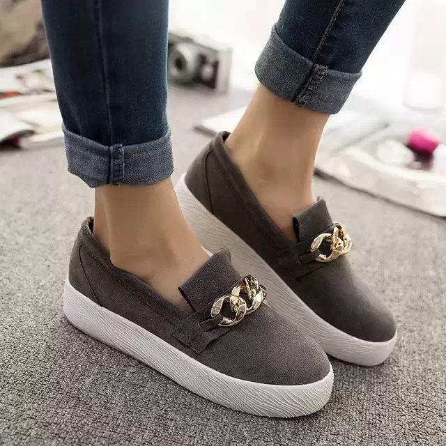 Zapatos de Las Mujeres de Moda de corea 2015 Nuevo Estudiante Perezoso Plataformas Punta Redonda Primavera Casual Leopard zapatos de Lona Bajos Ocasionales Zapatos de Niña 35