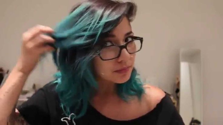 atomic turquoise manic panic on unbleached hair - Google Search