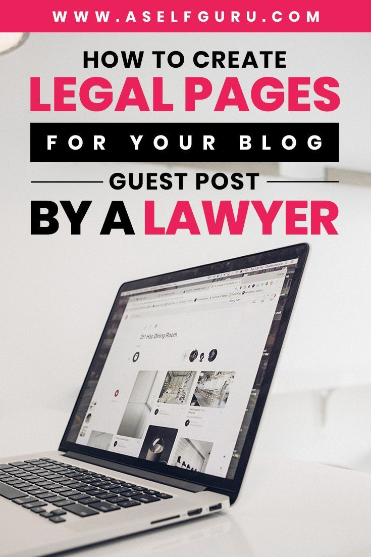 Creating Legal Pages For Your Website | Financial & Legal Protection